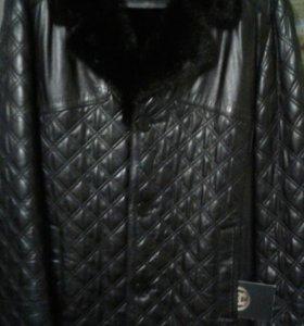 Куртка кожанная мужская зимняя новая