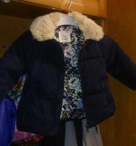 Пуховик куртка осень -весна - теплая зима