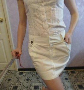Белая юбка .