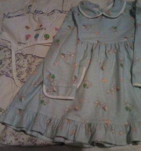 Сарафанчик и фланелевое платье