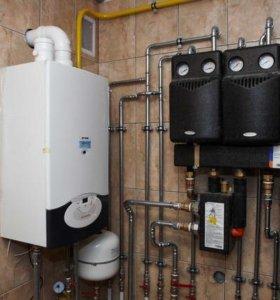 Монтаж отопления,водоснабжения