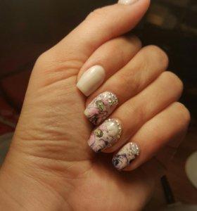 Наращивание ногтей, шеллак