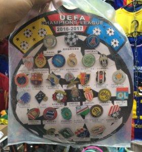 Набор значков Лига чемпионов 2016-2017