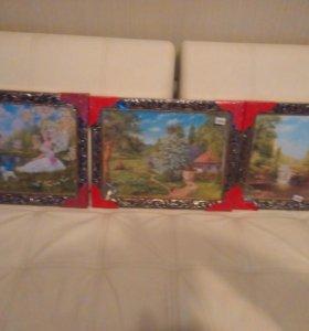Три новые картины в раме
