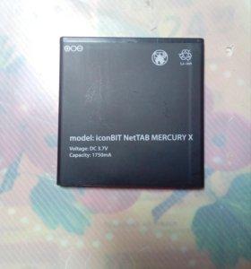 Аккумулятор новый для IconBit Mercury X