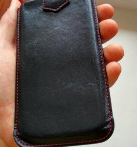 Чехол карман кожанный