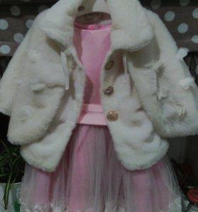 Платье новогоднее на 3-5 лет