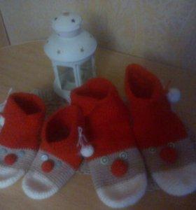 Носки взрослые,детские-Санта-Клаус