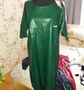 Платье(кожзам), новые.
