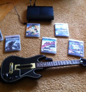 PS3 +диски+гитара