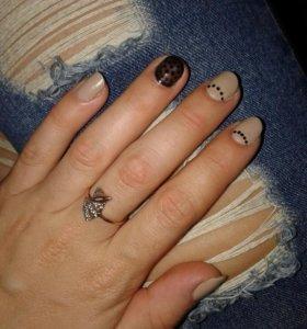 Покрытие ногтей гель - лаком. Наращивание ногтей