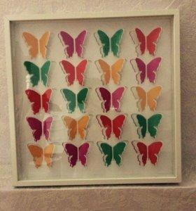 Картина бабочки