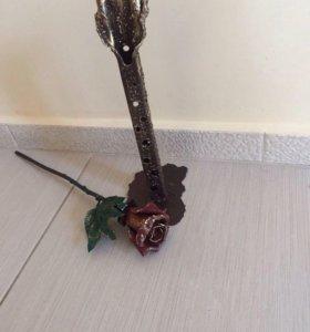 Роза металическая декоративная