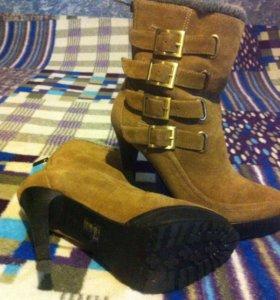 Стильные ботинки зима р-р 38-39