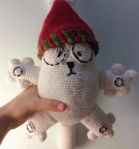 кот саймона (вязаная новогодняя игрушка)