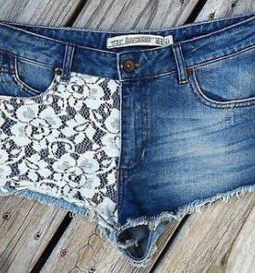 Шорты джинсовые Zara Premium Wash