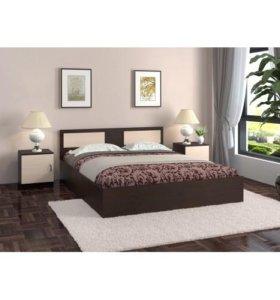 Гарантия.Кровать двухспальная с матрасом