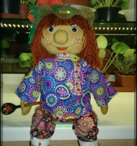Текстильная игрушка.Домовой Данилка