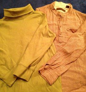 Комплект из водолазки и рубашки Zara