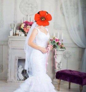Свадебное платье,фата,