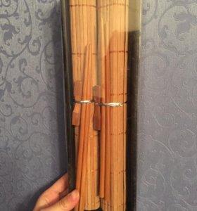Набор бамбуковых матиков, 6 предметов