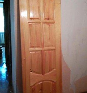 Дверь массив Сосна.