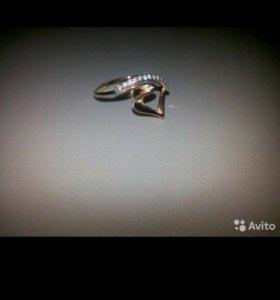 Золотое кольцо  с фианитами 585 проба