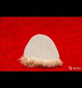 меховая шапка с натуральным мехом