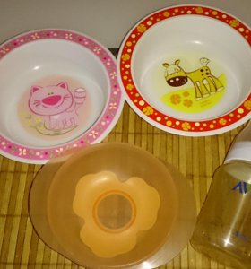Детская посуда тарелки бутылочка авент Avent