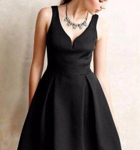 Платье, темно синего цвета