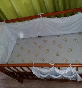 Кровать с выдвижным  нижним ящиком