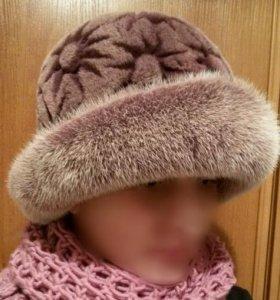 Шляпа зимняя стриженная норка