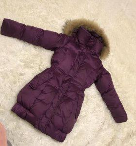 Куртка пуховик на девочку 128-134