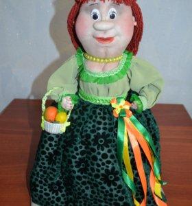 Кукла ручной работы (на чайник)