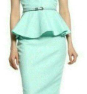 Платье с баской Тиффани