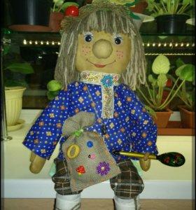 Текстильная игрушка.Домовенок Андрюшка.