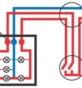 Электрик. Перенос розеток и выключателей.