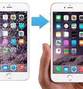 Замена дисплея iPhone 4/4s/5/5s/5c/6/6s/6 plus/6s+