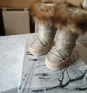 Зимние сапоги на девочку новые