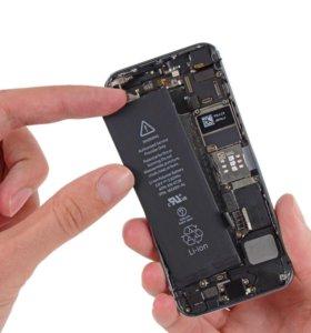 Замена батареи iphone 4/4s/5/5s/5c/6/6s/6+/6s+