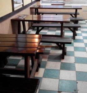 Столы стулья.