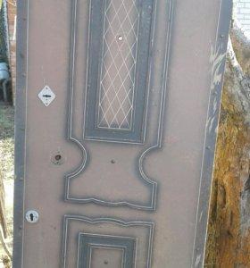 Дверь металлическая,входная ,мощная , тяжелая