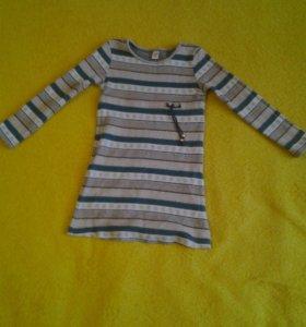 Трикотажное платье на девочку