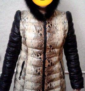 Пальто из PU-кожи