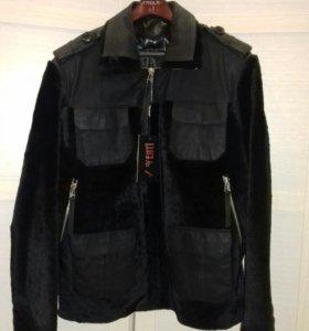 Новая зимняя куртка из натурального меха и кожи