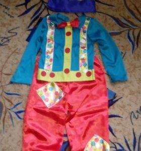 Новогодний костюм клоуна,скомороха
