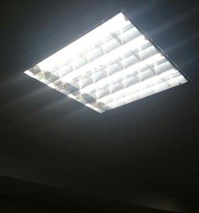 Светильники с лампами в сборе (армстронг)