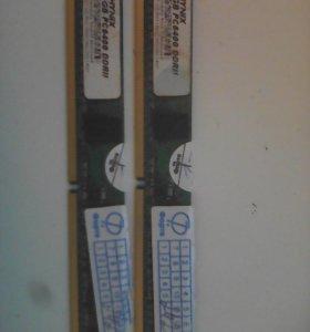 Hynix 1gb pc6400 DDR II ОЗУ 2 шт
