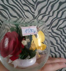 Цветы в стекле (стабилизированные)