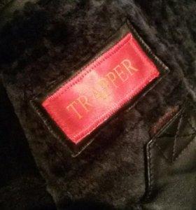 зимняя куртка кожаная